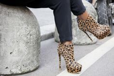 X #leopard booties  via @Socialbliss, hautespot for style
