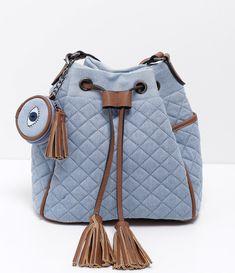 cddfc0587f Bolsa feminina Modelo saco Com enforcador Marca  Blue Steel Composição   jeans Composição  90