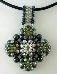 "Free Pattern - ""Embellished Porcelain Pendant"" featured in Bead-Patterns.com Newsletter!"
