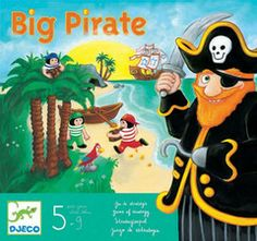 Discover the Big Pirates game, a tactical game from Djeco where the aim of the game will be to seize or protect the treasure according to the role Pirate Island, Pillos, Pirate Games, The End Game, Pirate Birthday, 9 Year Olds, Baby Kind, Little Gifts, Board Games
