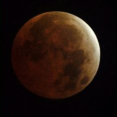 The eclipse of the moon at 4th april 2015. Such a great thing.