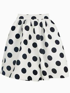 Cute polka dotted skater skirt http://rstyle.me/n/ictqmnyg6