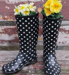 Click pic for 29 Spring Container Gardening Ideas - DIY Plants in Boots - Recycled Garden Ideas