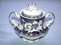 Gorgeous Rare Antique 1890-1920 Wedgwood Phoebe Pattern England Biscuit Jar