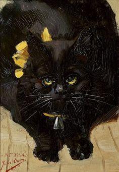 Portrait of a chubby cat - Jules Cran 1901