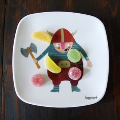 "melamine plate ""little viking"" - dinnerware - herzensart shop"