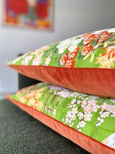 Bolster pillow cushion in oriental spring chinoiserie floral | Etsy Green And Gold, Red Green, Bolster Pillow, Pillows, Textile Design, Floral Design, Luxury Cushions, Vintage Kimono, Decorative Cushions