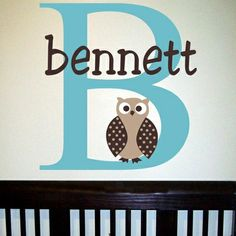Bennett S Owl Wall Decal 44 Themed Nursery Ideas