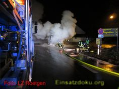 awesome Roetgen: Motorbrand eines Busses auf höhe Fringshaus, B258