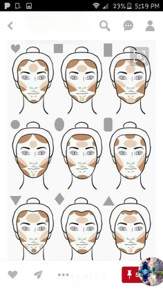 Make-up tips Contouring give your face that certain something Haus Dekora . - Make-up tips Contouring give your face that certain something house decoration More Face Makeup con - Slimmer Face, Skin Makeup, Makeup Brushes, Beauty Makeup, Face Contour Makeup, Contour Makeup How To Do, Highlight Contour Makeup, Highlight Face, Contour Kit