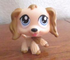 2pcs LPS #91 #518 Littlest Pet Shop Dachshund Wiener Dog Rare Cocker Spaniel Toy