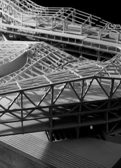 Giant Group Campus Morphosis Structural Model Morphosis Architecture, Scale Model Architecture, Modern Architecture, Structural Model, Architectural Scale, Deconstructivism, Public Space Design, Arch Model, System Model