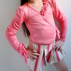 Cinderella Wrap Top by ethelanddean on Etsy, $45.00  #ballet #childrensclothing #etsy #kidsclothes