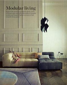 Rhomboid suspension lamp by Sebastian Bergne in October Elle Decoration UK. (2012)