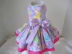 Dog Dress XS   Spring  Lavender  Butterfly   by NinasCoutureCloset, $30.00