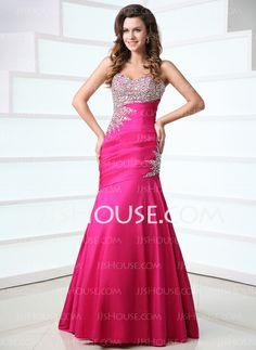 Prom Dresses - $159.99 - Mermaid Sweetheart Floor-Length Taffeta Prom Dresses With Ruffle Beading (018017528) http://jjshouse.com/Mermaid-Sweetheart-Floor-length-Taffeta-Prom-Dresses-With-Ruffle-Beading-018017528-g17528