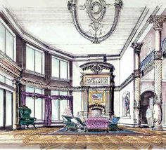 Interior Design Sketches Living Room interior design sketches living room - google search | magic
