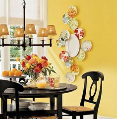 Dishfunctional Designs: China Plate Wall Displays: Cheap and Easy!