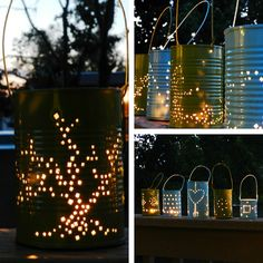 Tin Can Lantern, DIY - fancy-deco.com
