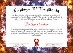 employee of the month certificate pdf