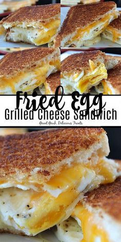 Grilled cheese sandwiches are so good, and this fried egg grilled cheese sandwich is definitely one that will make any breakfast delicious! Toast Sandwich, Easy Appetizer Recipes, Brunch Recipes, Meat Appetizers, Dinner Recipes, Egg Recipes, Cooking Recipes, Recipies, Huevos Fritos