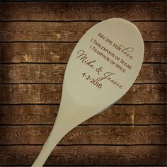 Recipe for Love Wooden Spoon Wedding Shower by PersonalizedGallery