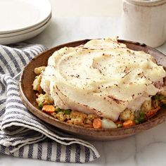 Simple Shepherd's Pie -- This version of an English classic uses ground turkey instead of beef to cut fat and calories. #myplate #protein #vegetables