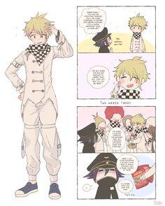 Danganronpa Funny, Danganronpa Characters, Panthers Memes, Rantaro Amami, Ouma Kokichi, Stupid Funny Memes, Anime Art Girl, Funny Comics, Fan Art