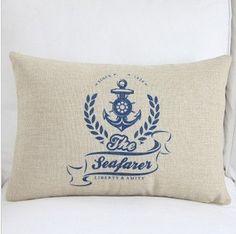 """12"""" Marine style ocean the seafarer Anchor Design sea Cushion Cover cushion case Pillow Case Pillow cover Pillow sham cushion sham"""