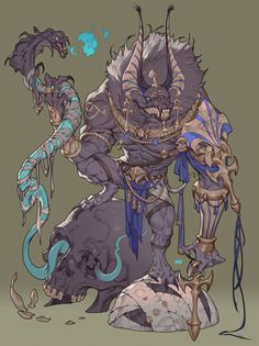 ArtStation-giggling, NI O - All For Home İdeas Fantasy Character Design, Character Design Inspiration, Character Concept, Character Art, Monster Design, Monster Art, Fantasy Monster, Humanoid Creatures, Dark Drawings