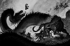 Tagged with thor, giants, odin, norse mythology, johan egerkrans; Norse gods by Johan Egerkrans Norse Pagan, Norse Mythology, Vikings, Medieval Fantasy, Dark Fantasy, Fantasy Creatures, Mythical Creatures, Loki, Vegvisir