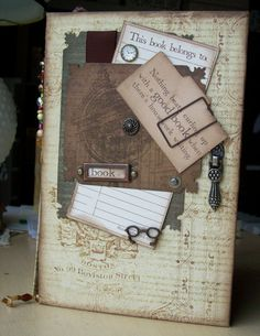 A book that I made for Club Scrap's Blog Hop from their Bookshelves kit.