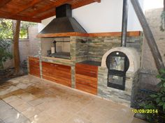 Excellent simple ideas for your inspiration Outdoor Kitchen Patio, Outdoor Oven, Outdoor Kitchen Design, Patio Design, Outdoor Living, Outdoor Decor, Fire Pit Backyard, Backyard Patio, Backyard Landscaping