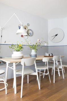 8x geverfde lambrisering in huis