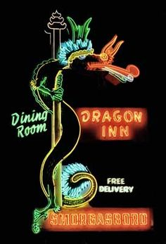 Dragon Inn Kingsway Burnaby Vancouver I like the play on words: drag (yourself)… Cool Neon Signs, Vintage Neon Signs, Neon Light Signs, New Sign, Sign I, Neon Jungle, Neon Nights, Sign Lighting, Old Signs