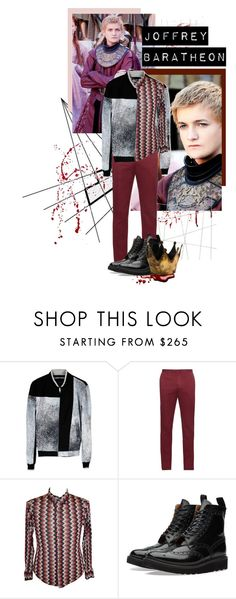 """""""King Joffrey"""" by sportsonista ❤ liked on Polyvore featuring Kenzo, Incotex, Todd Oldham, Grenson, men's fashion and menswear"""
