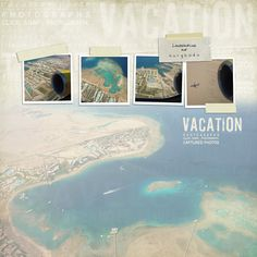 Vacation #instagram #photos #diy #simple #scrapbook #layout