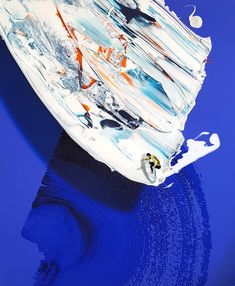 Golsa Golchini, On the edge, the edge - Return on Art< Abstract Landscape, Abstract Art, Unusual Art, Brush Strokes, First Love, Mixed Media, Creative, Artworks, Cotton