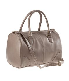 Leather Bag with two handles and  an adjustable shoulder strap. Love it!