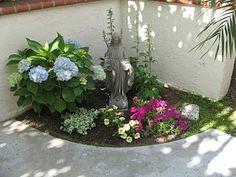 Outdoor prayer garden images and a small prayer garden for Rosary garden designs