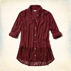 From flirty blouses to button up oxfords, Hollister's shirts for girls are here in new colors and styles. Shop shirts now. Shirt Shop, Shirts For Girls, Shirt Blouses, Hollister, Tunic Tops, Lace, Jackets, Clothes, Color