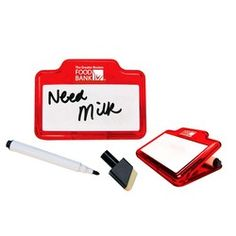 GP113 – Dry Erase Magnetic Memo Clip. Generous space for a personal message. Write on message, then wipe it off, with the dry erase pen and eraser head included. #promotional