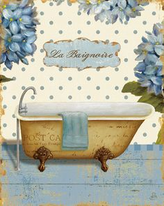 Brissonnet Daphne Thinking of You Bath II, Digitaldruck, Poster