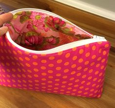 A personal favorite from my Etsy shop https://www.etsy.com/listing/269637823/zippered-cosmetic-bag