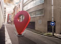 Map Pins by Ghost Studios, via Behance Creative Poster Design, Ads Creative, Creative Posters, Creative Advertising, Advertising Design, Game Ui Design, Map Design, Branding Design, Map Signage