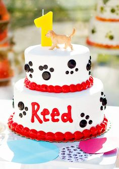 "Bright & Playful Puppy ""Pawty"" First Birthday"