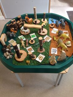 Wild animal, Safari small world tray<br> Eyfs Activities, Nursery Activities, Activities For 2 Year Olds, Animal Activities, Preschool Summer Camp, Preschool Crafts, Animal Crafts For Kids, Art For Kids, Dear Zoo