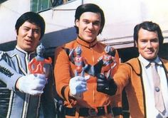 Dan(Ultraseven),Go(Ultraman) e Hayata(Ultraman)
