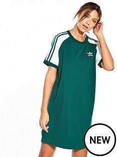 adidas originals raglan dress greenwhitenbsp | Kids fashion