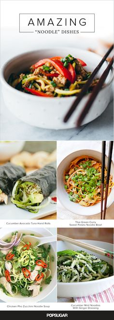 Here's a fun way to get your daily dose of vegetables: turn them into noodles. We rounded up the best, most creative veggie-noodle dishes on the Internet, ranging from a fresh take on chicken pho to a satisfying yet pasta-free macaroni and cheese.